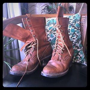 Vintage super cool leather boots